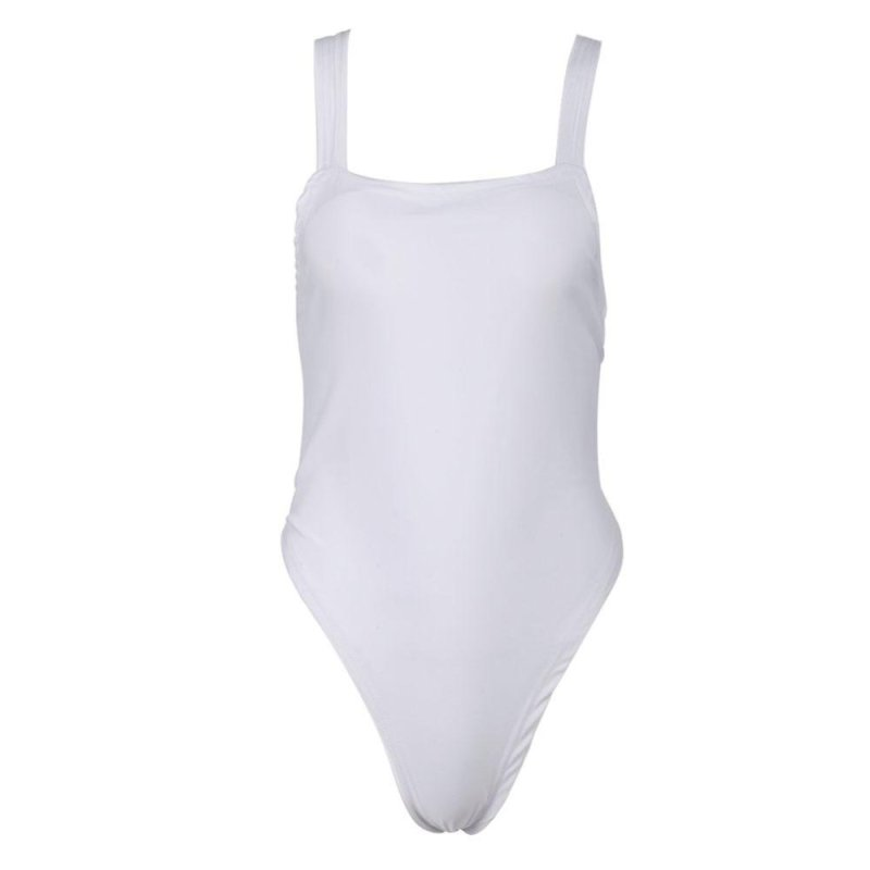 Nơi bán Women One Pieces Skinny Backless Bodysuits Summer Padded Swimsuit(White ) - intl