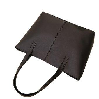 Women PU Leather Casual Tote Bag hand bag - intl