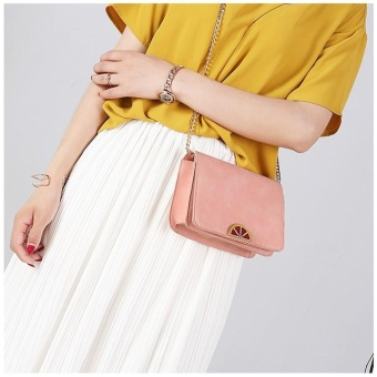 Women Street Style Square Cross Body & Shoulder Bags (Pink) - intl