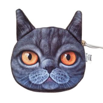YBC Women Cat Face Coin Mini Wallet Purse Bag Pouch Clutches - intl
