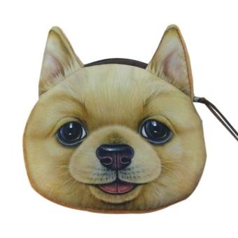 YBC Women Dog Face Coin Mini Wallet Purse Bag Pouch Clutches - intl