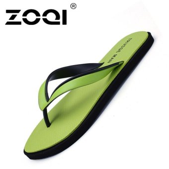 ZOQI Men's Fashion Beach Sandals Flip Flops(Green) - Int'l - intl