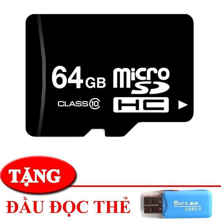 Thẻ nhớ 64gb microsc hd tốc độ cao- chuyên dụng lưu trữ cho camera wifi điện thoại đài nghe nhạc