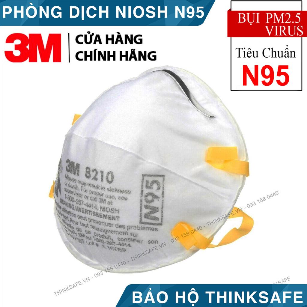 [HCM]Khẩu trang N95 3M 8210 - Khẩu trang 3d mask đạt chuẩn N95 chống bụi chống độc Khẩu trang 3m phòng dịch chính hãng  - Bảo Hộ Thinksafe