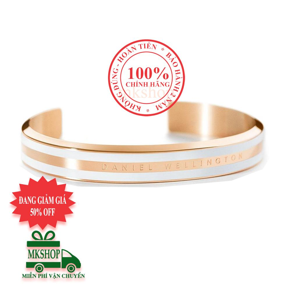Vòng tay thời trang nữ Daniel Wellington Classic Bracelet, màu Vàng hồng (Rose Gold), nền trắng (White), size M- DW00400005