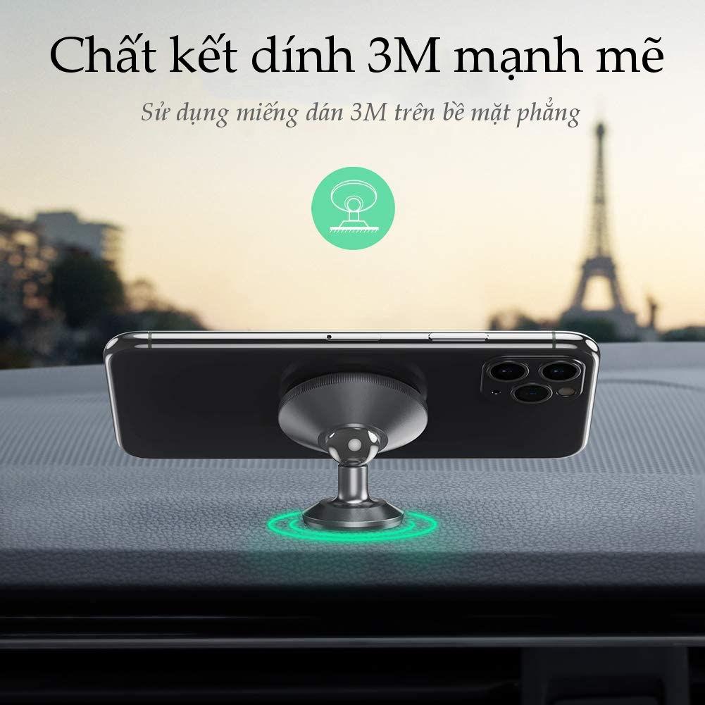 Giá đỡ điện thoại từ tính trên xe hơi tương thích với điện thoại kích thước từ 4-7 inch UGREEN 50871