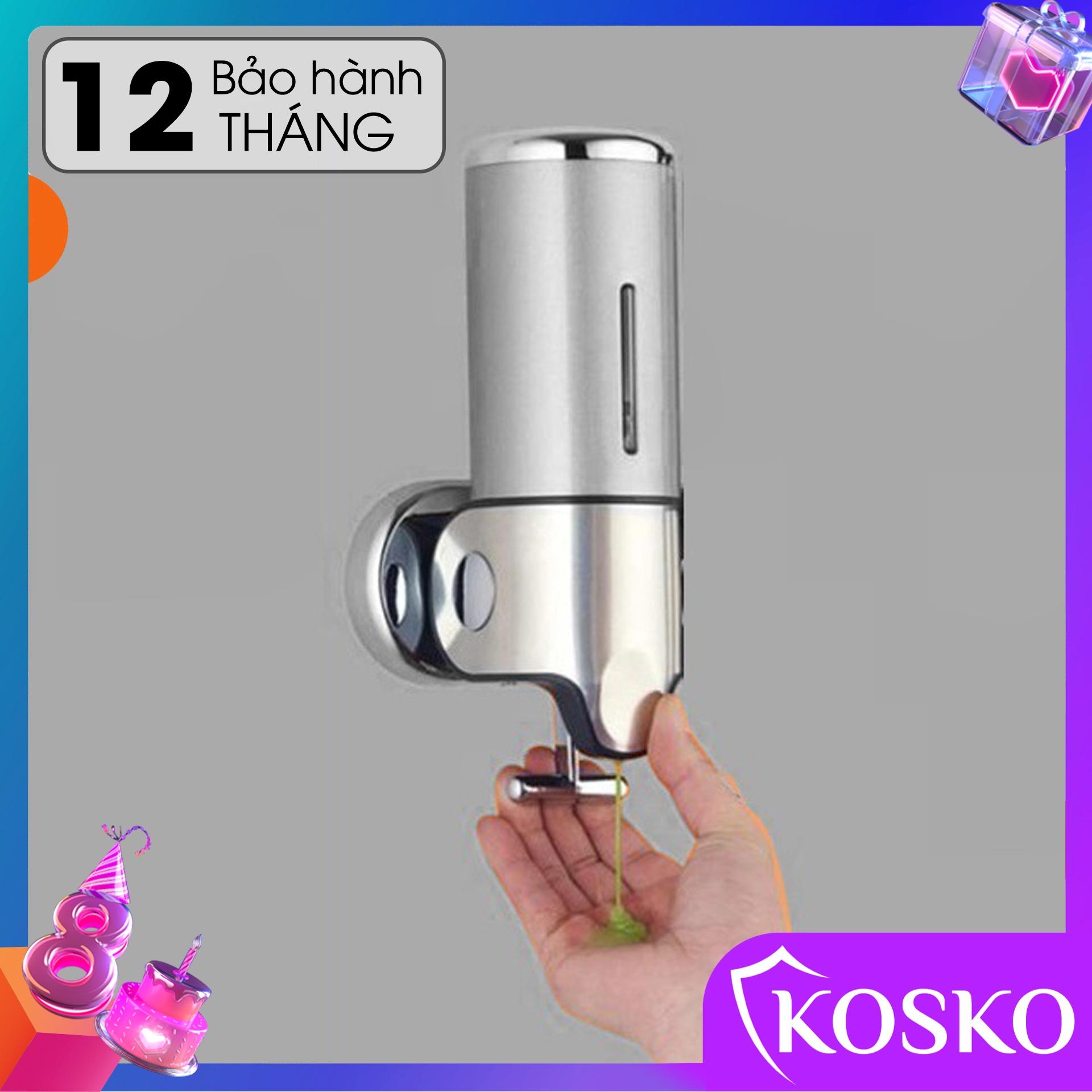 Hộp đựng dầu gội sữa tắm gắn tường KOSKO mã GANGANG KGG-87BĐ Bạc đơn, hộp đựng nước rửa tay lắp đặt dễ dàng - Sử Dụng Tiện Lợi (Bảo hành 12 tháng - 1 đổi 1 trong 15 ngày)