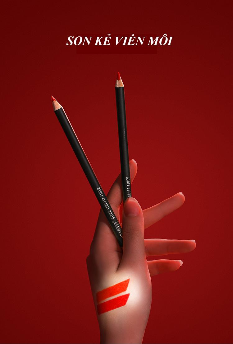 Chì kẻ viền môi 619 đỏ thẩm siêu xinh ,bền màu ,lâu trôi 1