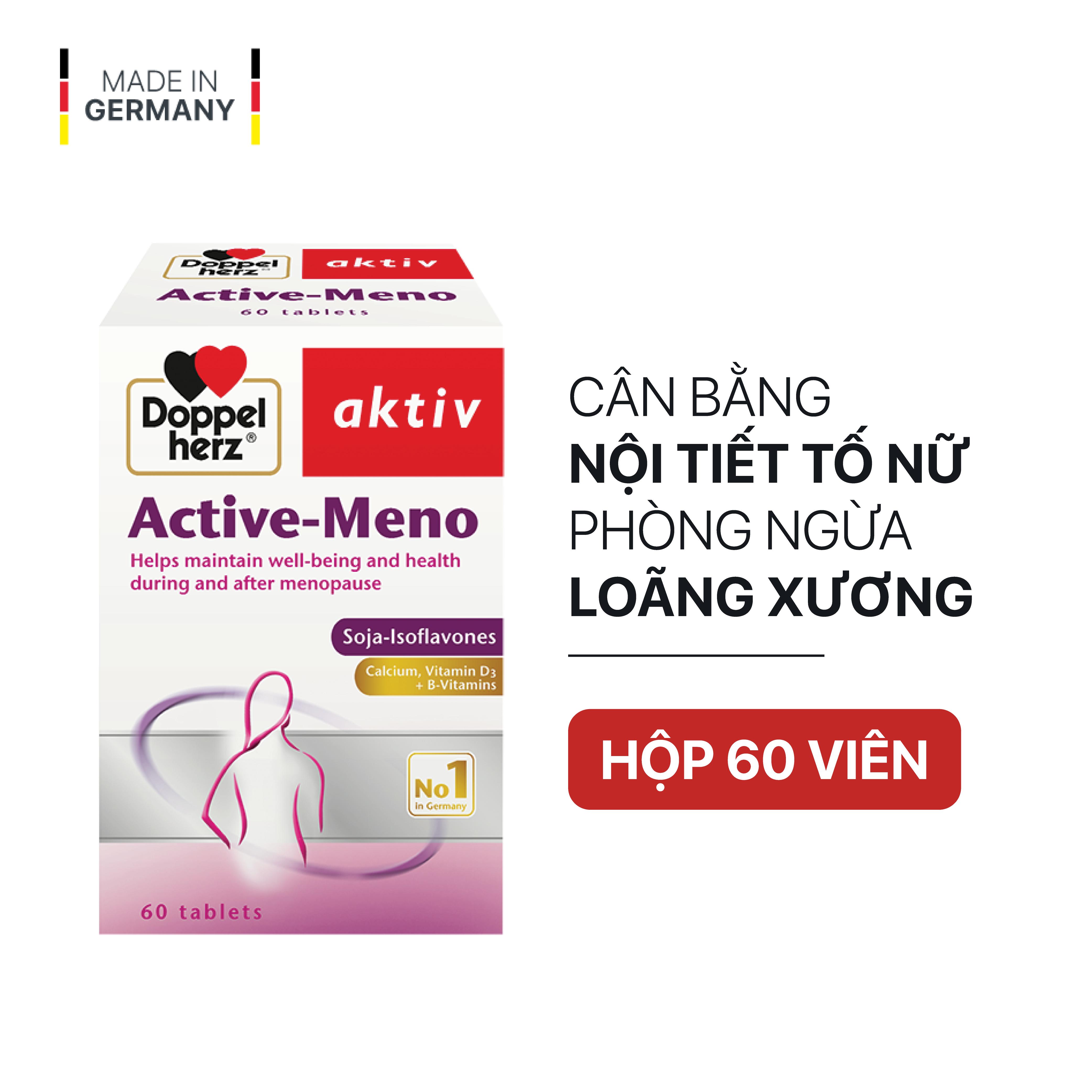 Viên uống cân bằng nội tiết tố nữ Doppelherz Aktiv Active Meno (Hộp 60 viên)