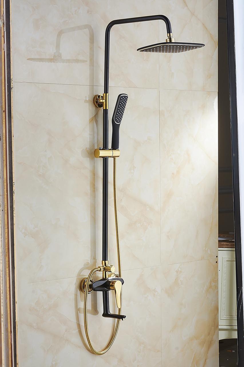Bộ sen cây tắm đứng nóng lạnh nhập khẩu S913 ( Đen vàng ) - Tiêu chuẩn Châu Âu