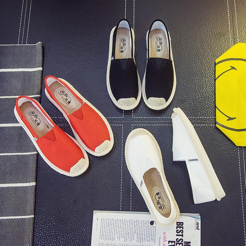 Slip on cói nữ - Giày lười vải nữ cao cấp - 3 màu (đen), (đỏ) và (trắng) - Mã SP B17 - P/s: Mẫu giày này form nhỏ, quý khách xem kỹ bảng hướng dẫn chọn size trong phần chi tiết sản phẩm để chọn size cho phù hợp nhé!