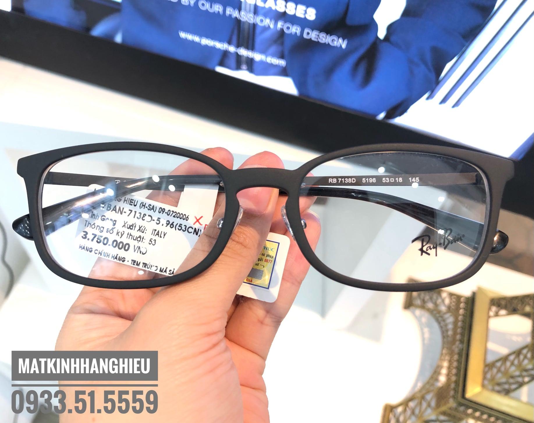 Gọng kính cận thời trang chính hãng RayBan RB7138D