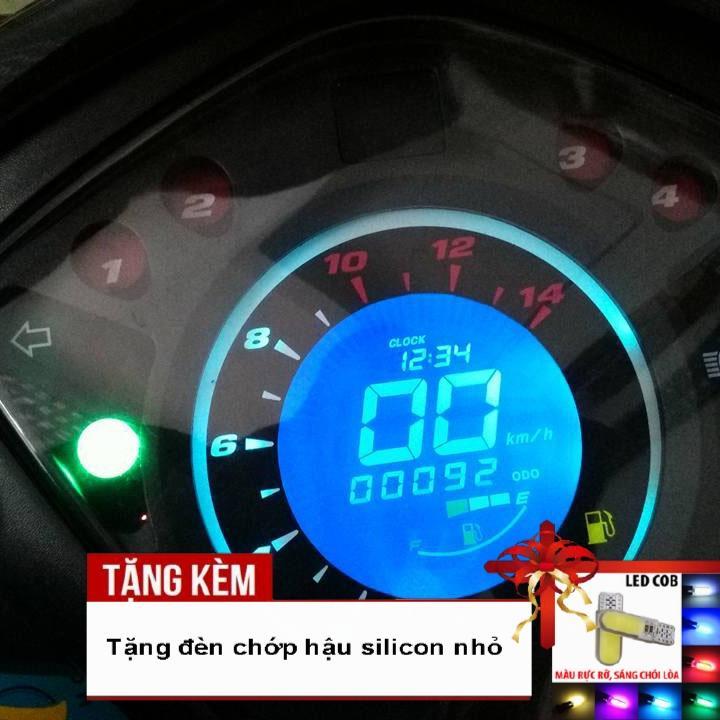 [CỰC BẤT NGỜ ] Đồng hồ điện tử LCD xe Wave RSX, Wave 110 với led 7 màu siêu nét - Tặng kèm đèn chiếu hậu silicon