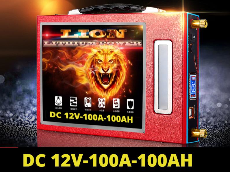Pin lithium 12V - 100Ah Lion Pin siêu nhẹ công nghệ mới
