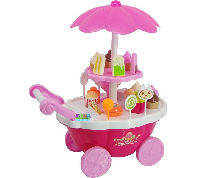 Xe kem - Xe đẩy bán kem - Có đèn, nhạc [Đồ chơi giải trí] dành cho bé gái