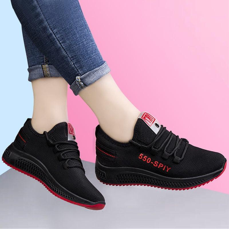 Giày thể thao nữ siêu rẻ và đẹp đen đế đỏ (giá hủy diệt)