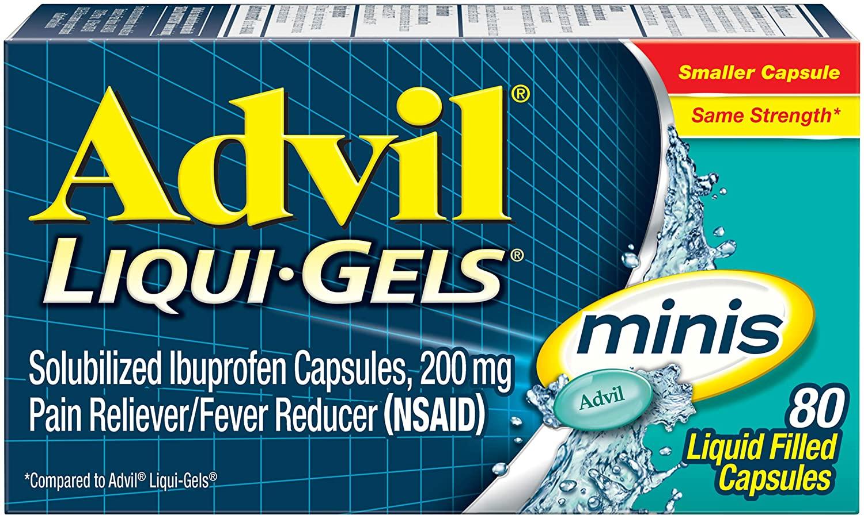 [DATE XA] Advil MINIS Liqui Gels Pain Reliever / Fever Reduces Ibuprofen 200mg 80 VIÊN