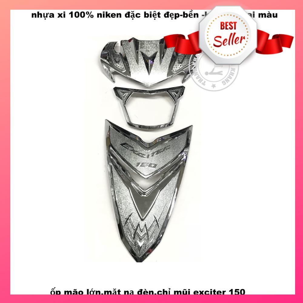 Combo mão lớn, mặt nạ đèn, chỉ mũi nhựa xi EXCITER 150 thanh khang 021000001 021000006 021000022 (3 món)