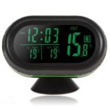 12V / 24V Auto LED Display Thermometer + Voltage Meter + Freeze Alert+Noctilucous Clock