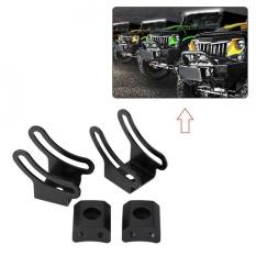 2 pcs A Set Curved LED Straight Fog Light Bar Slide Mounting Base Bracket Kit for Car Off Road - intl