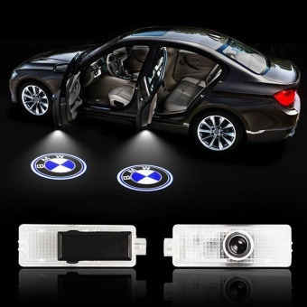 2PCS LED Logo Lights Door Laser Shadow Projector Courtesy Light ForBMW - intl