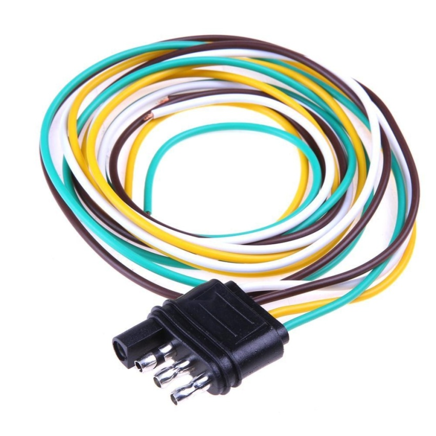 In trailer light wiring harness extension pin plug