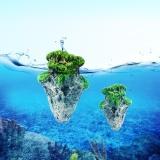 Đá Nổi Phủ Rêu Nhân Tạo Trang Trí Cảnh Cho Bể Cá Và Hồ Thủy Sinh, Kích Thước Nhỏ: 5.8 X 9.2cm - Quốc Tế