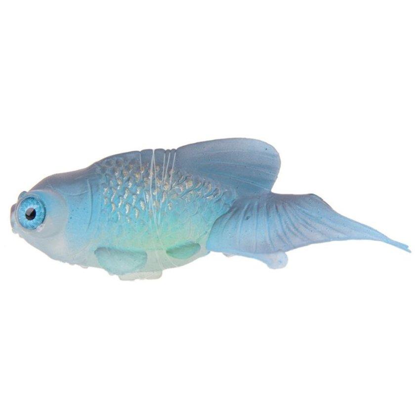 Hình ảnh Artificial Silicone Swim Robofish Toy Fish Robotic Fishing Tank -intl