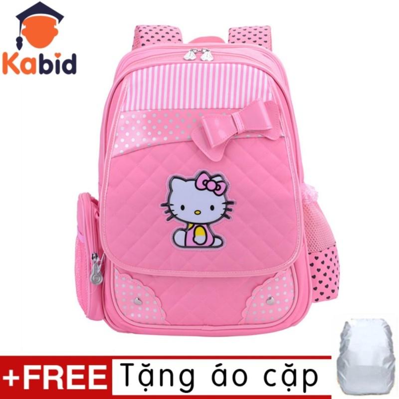 Giá bán Balo học sinh chống gù lưng PinkCat cho bé gái Từ lớp 1 đến lớp 3 (Pink) tặng áo trùm cặp