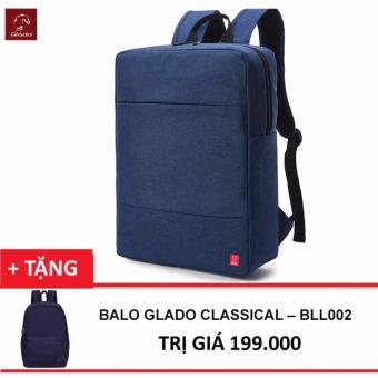 Balo Laptop Glado Cylinder BLC010 (Xanh) + Balo Classical