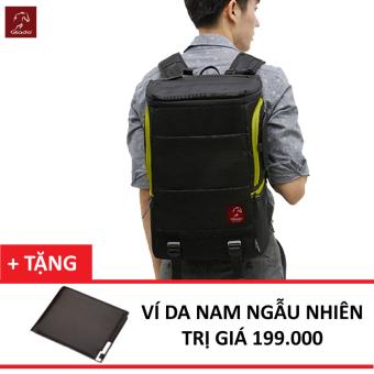 Balo Laptop Glado Cylinder GC01 (Đen) + Tặng Ví Nam Thời Trang