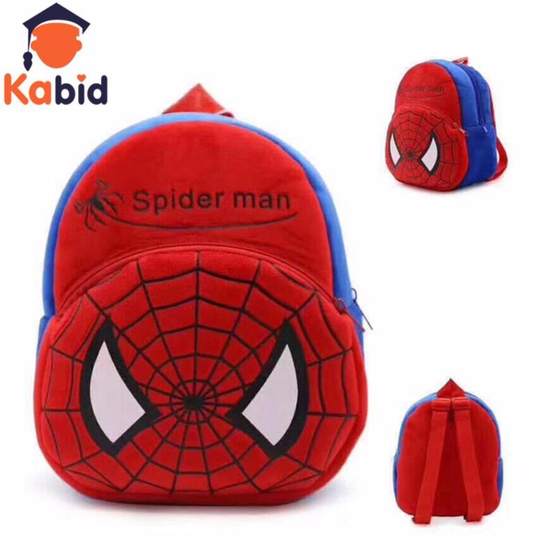 Giá bán Balo mầm non Kabid  hình Spider man( Đỏ)