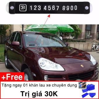 Bảng số điện thoại gắn kính trước ô tô tặng kèm 1 khăn lau xe ô tô
