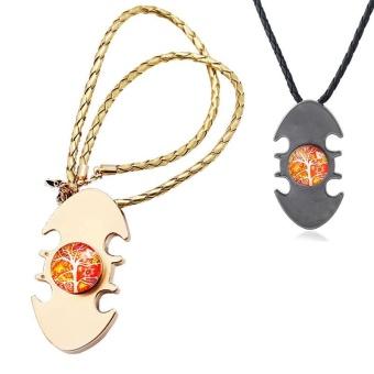 Bat Alloy Pressure Chain Men Women Silver Stainless Steel Batman Jewelry - intl