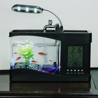 Bể cá mini phong thủy để bàn (Đen)