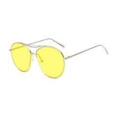 Khuyến Mãi Big Frame Personalized Sea Lens Sunglasses (Yellow) – intl  crystalawaking