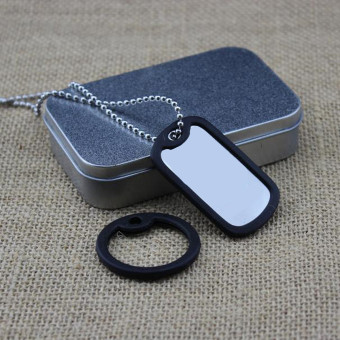 Black Silicone Rubber Dog Tag Noise Silencer Bumper Fastener Ring For Military - Intl
