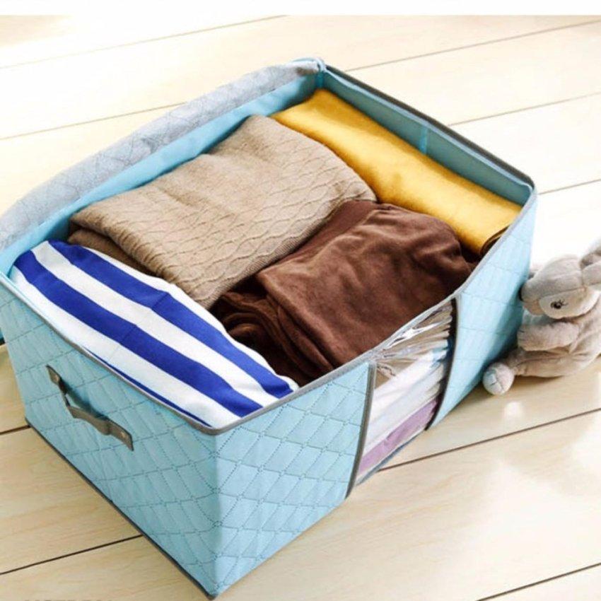 Hình ảnh Bộ 10 túi vải không dệt size lớn đựng quần áo chăn mền