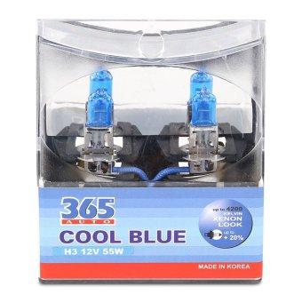 Bộ 2 bóng đèn ô tô 365-Auto H3 Coolblue 12V (Xanh )