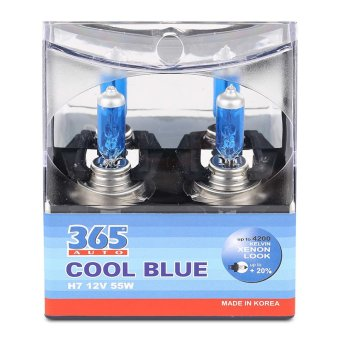 Bộ 2 bóng đèn ô tô 365-Auto H7 Coolblue 12V (Xanh )
