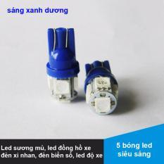 Bộ 2 đèn Led Sương mù, Đồng hồ, Xi nhan, Led biển số cho xe máy - Màu xanh