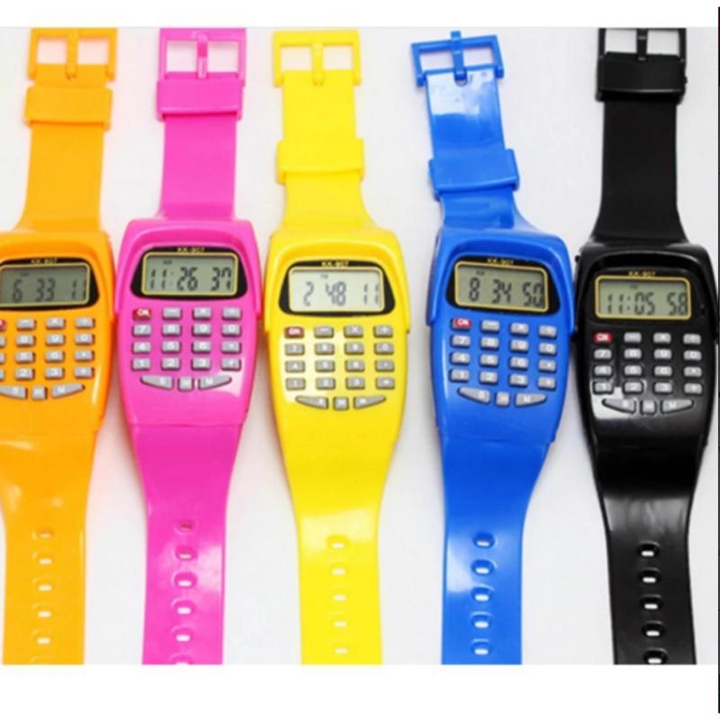 Bộ 2 đồng hồ đeo tay kiêm máy tính cho bé CT24h bán chạy