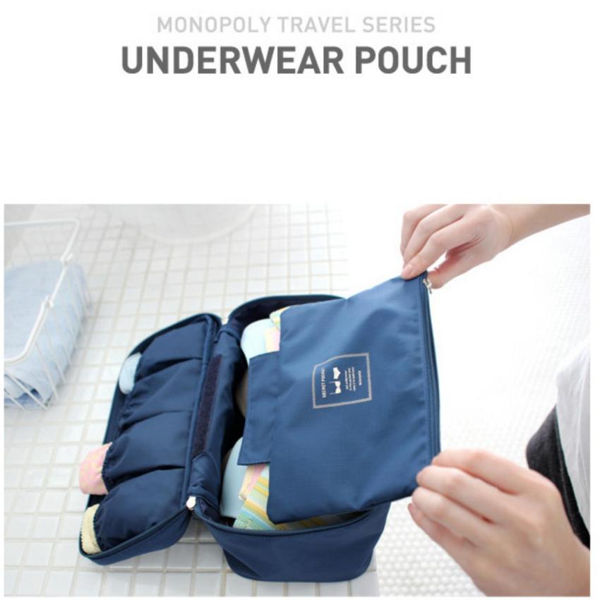 Bộ 2 túi đựng đồ lót du lịch Monopoly underwear
