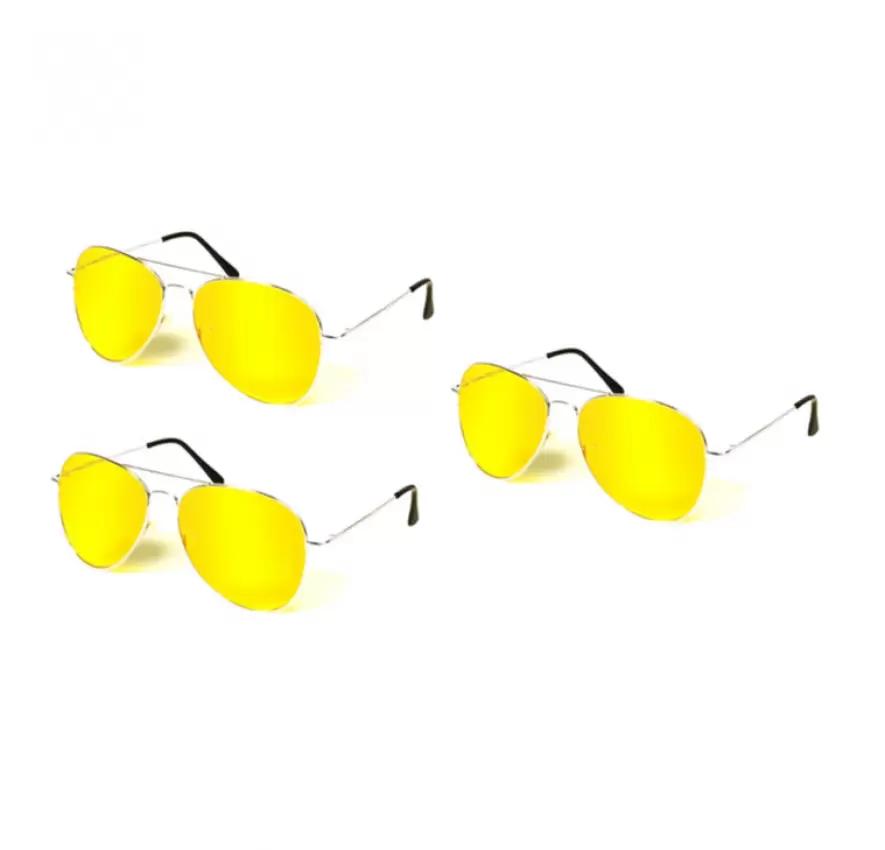 Bộ 3 kính mắt đi đêm chống chói (Vàng)