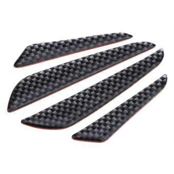 Bộ 4 miếng dán carbon trang trí thể thao cửa xe ô tô chống va đập - 3