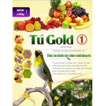 Bộ 5 Cám Chim Vành Khuyên Tú Gold Số 1 - Gói 100gram
