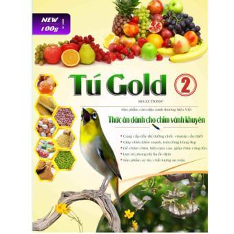 Bộ 5 Cám Chim Vành Khuyên Tú Gold Số 2 - Gói 100gram