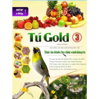 Bộ 5 Cám Chim Vành Khuyên Tú Gold Số 3 - Gói 100gram