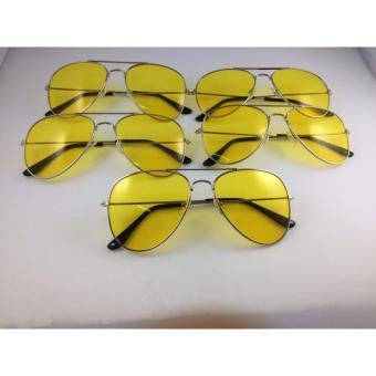 Bộ 5 kính nhìn xuyên đêm chống lóa mắt (Vàng)