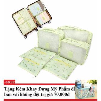Bộ 6 túi du lịch cherry chống thấm ( xanh lá)+ Tặng kèm khay đựng mỹ phẩm để bàn - 10228777 , CH258OTAA3S099VNAMZ-6744054 , 224_CH258OTAA3S099VNAMZ-6744054 , 278000 , Bo-6-tui-du-lich-cherry-chong-tham-xanh-la-Tang-kem-khay-dung-my-pham-de-ban-224_CH258OTAA3S099VNAMZ-6744054 , lazada.vn , Bộ 6 túi du lịch cherry chống thấm ( xanh l